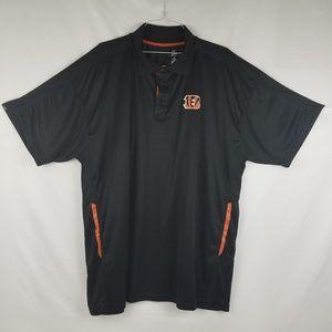 Cincinnati Bengals Shirt Polo Men's 3XL